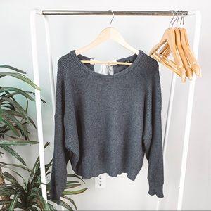 Zara Knit Oversized Bow Tie Sweater
